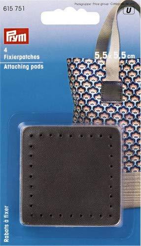 Prym Fixation pour Sac pour poignées, Mélange de Polyester, Marron, 5,5 x 5,5 cm, Lot de 4