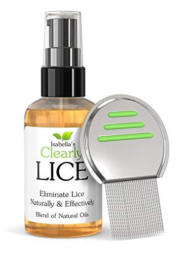 Clearly LICE. Traitement puissant contre les poux des huiles naturelles éprouvées pour éliminer les poux et les lentes. Sans toxines ni produits chimiques durs. Peigne métallique GRATUIT. (120ml)
