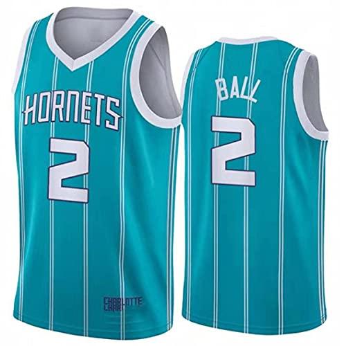 wsetrtg Camisetas de Baloncesto para Hombre NBA Charlotte Hornets # 2 Lamelo Ball Camisetas clásicas Retro Bordado Fitness Tank Top Sports Top 1 S