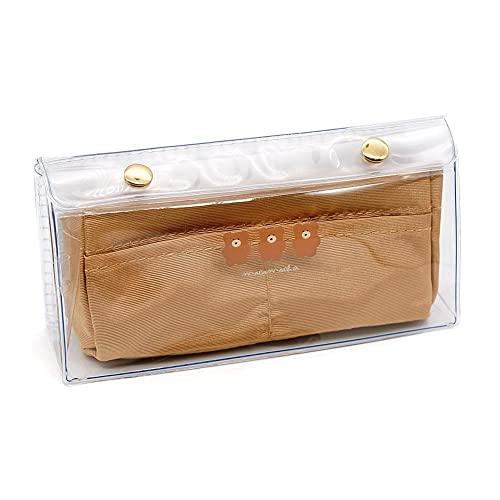 筆箱 クーリア ペンケース ボックス タイプ 中学生 高校生 一般 女の子 向け クリップペンケース ラテ モコモカ クリア素材 透明