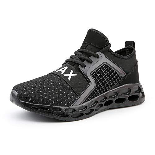 XLYAN groot formaat vliegen geweven sport casual schoenen mannen hoge elastische rubber en plastic holle bodem mannen hardloopschoenen 3D onderkant mes Edge schoenen