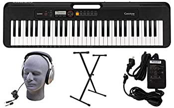 Casio CT-S200BK 61-Key Premium Keyboard Pack with Stand Headphones & Power Supply Black  CAS CTS200BK PPK