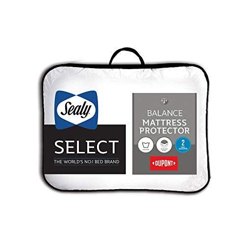 Sealy Select Balance de Protector de colchón, Blanco, King