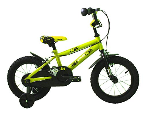 "Ümit Bicicleta 14"" APOLON, Juventud Unisex, Verde Pistacho, Mediano"