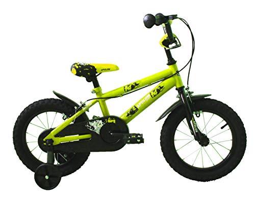 Ümit Bicicleta 14' APOLON, Juventud Unisex, Verde Pistacho, Mediano