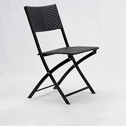 zyy Patio sillas Plegables al Aire Libre Muebles de jardín Silla de Mimbre Silla Plegable Bistro Cubierta All Weather jardín de Mimbre Silla Plegable sillas apilables,B
