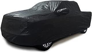Xtrashield CarsCover 100% Sunblock Custom Fit 2000-2018 Chevy Silverado 1500 Crew Cab 5.5ft Short Bed Box Truck Car Cover Black