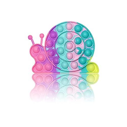 PIANETA Pop it Push it Fidget Toy, Pop Bubble, Gioco Antistress a fine Tensione Giocattolo sensoriale L'autismo allevia l'ansia. per Bambini e Adulti (Snail)