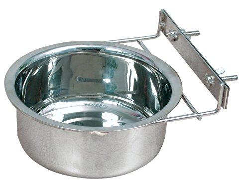 Zolux a Fissare Ciotola in Acciaio Inox per Cani Diametro 18cm 1,34L