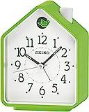 Seiko Bird House Analogue Alarm Clock Green Plastic - QHP002M