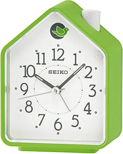 Seiko Wecker grün Kunststoff Schleichende Sekunde QHP002M