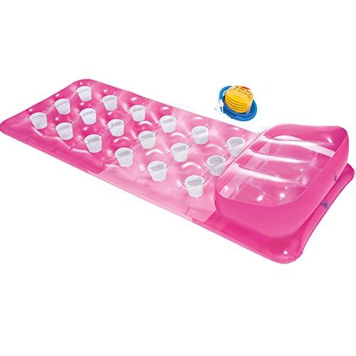 Backboards Transparente Tablas Paddle Surf,Plegable Tabla Sup Hinchable,con Almohada Cama Flotante,para Hombres Mujeres Niño 188x71cm (74x28 Inch),Pink
