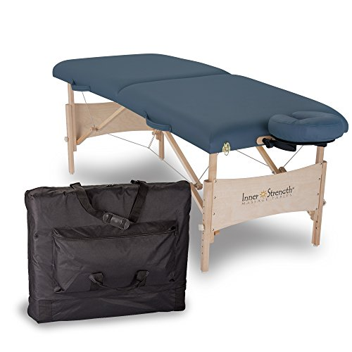 INNER STRENGTH Portable Massage Table Package ELEMENT – Incl. Deluxe Adjustable Face Cradle, Face Pillow & Carrying Case, Agate
