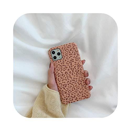Henraly - Carcasa para iPhone 11, diseño de leopardo, suave y cálida, para iPhone 11 Pro Max 7, 8 Plus X, XR XS Max se 2020, moda invierno Kl352-5-For-Iphonex