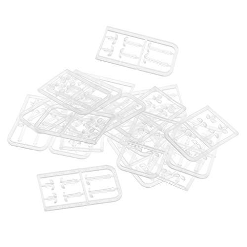 B Baosity 120 Stück Plastik Boilie Stopper Karpfen Angeln Pellets Bands Köder Stopper - Transparent