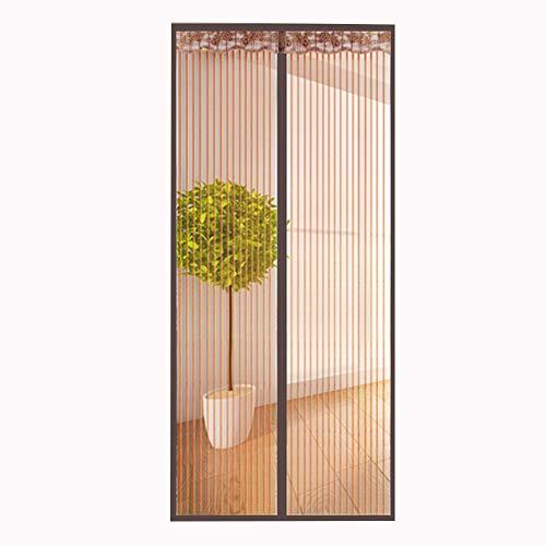 Anti-Shedding Vollrahmen-Klett-Magnetgittertür, einfach zu installierender Netzvorhang, verstärkt für Kaffee zu Hause 90 x 220 cm (35 x 87 Zoll)