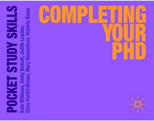 Completing Your Phd Pocket Study Skills