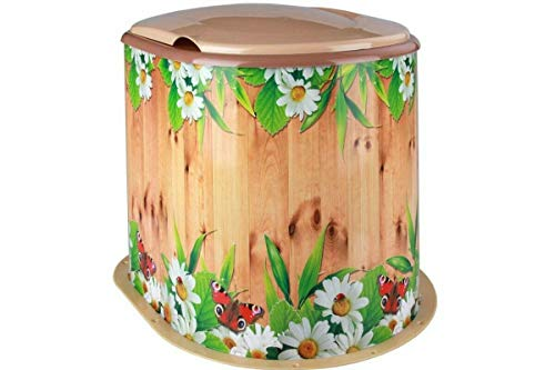 4BIG.fun Camping Toilette Datsche WC Kompost Reise Mobile tragbar Klo Blumen