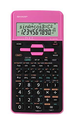Sharp EL-531 TH-PK Wissenschaftlicher Schulrechner (D.A.L.-Eingabe, Batteriebetrieben) pink