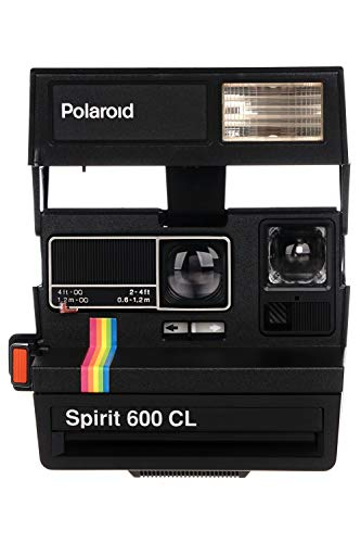 Vintage Polaroid Spirit 600CL–Cámara instantánea película con caja–Rainbow Stripe–nunca used