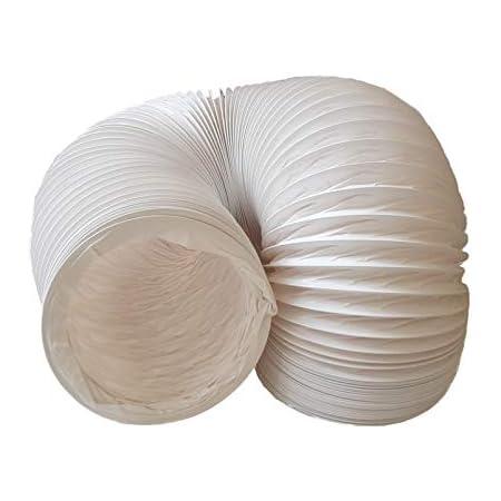 Daniplus Tuyau d'évacuation d'air en PVC flexible, diamètre : 150 mm, longueur : 5 m, pour climatisation, sèche-linge, hotte