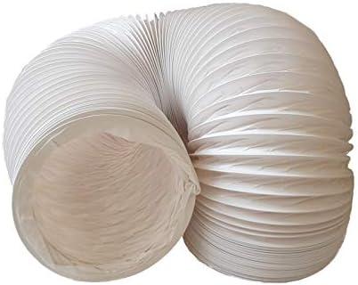 Daniplus Tuyau d'évacuation d'air en PVC flexible, diamètre : 150 mm, longueur : 5 m, pour climatisation, sèche-linge...