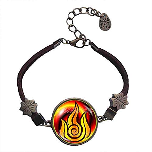 Handmade Fashion Jewelry Fire Nation Symbol Avatar The Last Airbender Bracelet Pendant Charm Legend of Korra Cosplay