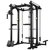 novi Power Rack, Comprehensive Home Power Rack Cage Regolabile Attrezzatura per Il Fitness Multifunzione...