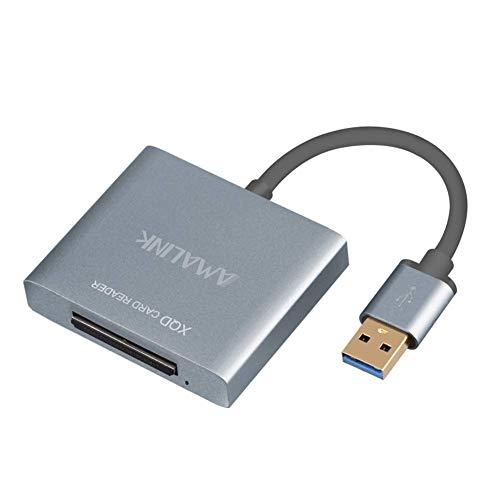 AMALINK XQD 2.0 USB 3.0 Card Reader, SupperSpeed Aluminum Alloy Flash Memory Card Reader for Sony G Series, Lexar USB Mark Card