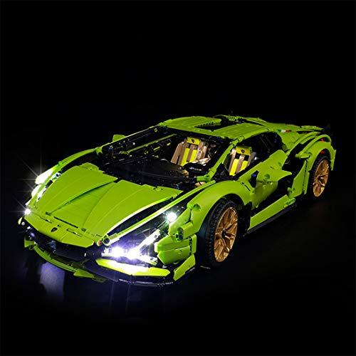 PEXL Beleuchtung Licht Set für LEGO Technik Lamborghini Sián FKP 37, LED Beleuchtungsset Kompatibel mit Lego Technic Lamborghini Sián FKP 37 42115 (Ohne Lego Set)
