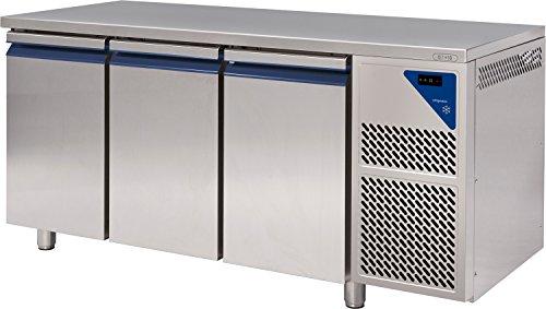 Gastlando - Premium Gastro Kühltisch Edelstahl - 3 Türen - 460 Liter - 0° bis +10 °C