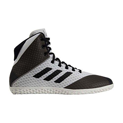 adidas Mat Wizard 4 Men's Wrestling Shoes, White/Black, Size 10.5