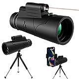 Telescopio Monocoli 12x50 HD con Visione Notturna Torcia Rossa Led, KNMY Monoculare Impermeabile...