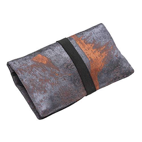 Porta Tabacco Cartine e Filtri - Astuccio Portatabacco in Tessuto Realizzato a Mano - Porta Tabacco Donna/Uomo con Tasca Segreta. (Rusty Metal - Iron)