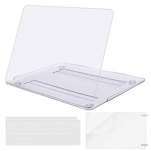MOSISO Hülle Kompatibel mit 2020 2019 2018 MacBook Air 13 Zoll A2337 M1 A2179 A1932 Retina Bildschirm, Plastik Hartschale und Tastaturschutz und Bildschirmschutz Nur Kompatibel mit MacBook Air 13 Zoll, Klar