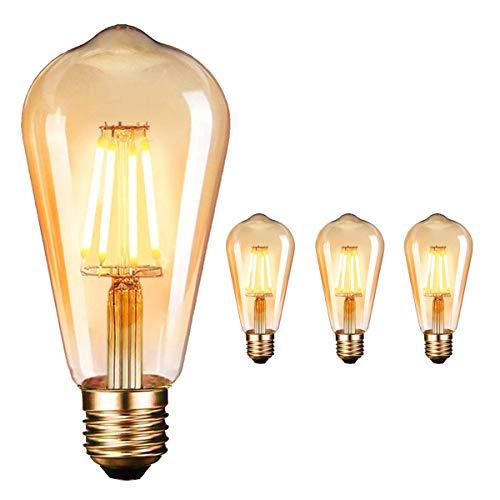 Edison Vintage Glühbirne - Gogotool 3 Stück LED Retro Glühbirne E27 4W 220V Warmweiß Antike Squirrel Lampe Cage Beleuchtung für Haus Café Bar usw