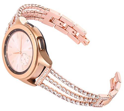LGFCOK 20 Mujeres DE 22 MM Reloj de Reloj para Samsung Galaxy Watch Active 2 44mm 40mm Pulsera para Galaxy Watch 46mm 42mm S3 para Huawei GT 2E Strap