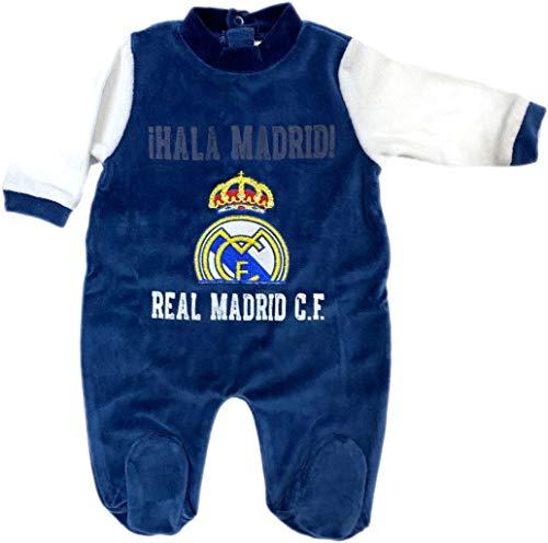 Pelele Terciopelo Real Madrid Bebé HALA Madrid Azul