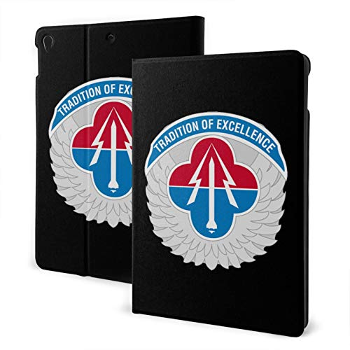 Fejarx U.S. Army Aviation and Missile Command The New Ipad Eighth Generation (2020)/Seventh Generation (2019)/ 10.2-Inch Shell-Corner Protection Multi-Angle Split Case