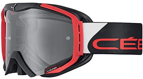 Cébé Hurricane Gafas de Ciclismo Black/Red Large, Adultos Unisex