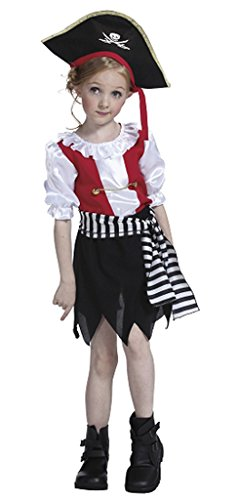 Bigood Costumes Déguisement Cosplay Princesse Pirate Aimable Enfant Fille pour Halloween M