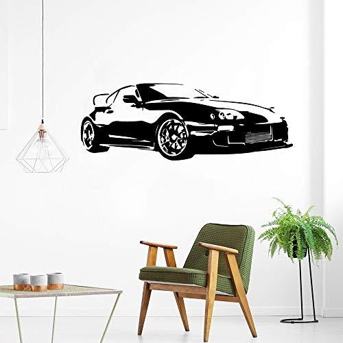Adesivi murali per auto sportive moderne Auto da corsa classiche Decalcomania in vinile Decorazione per soggiorno Poster per veicoli Carta da parati per auto rimovibile-42x113 cm113