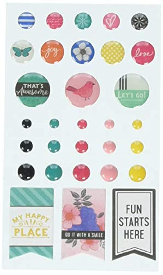 American Crafts All The Good Things Self-Adhesive Finishing Embellishments 31/Pkg