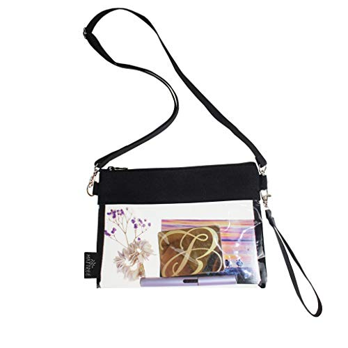 Clear Bags for Women Clear Purse Clear Crossbody Bag NFL,NCAA Stadium Approved for Work Sporting Event