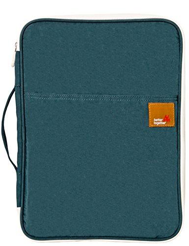 A4 Reisedokumententasche Ausweistasche Multifunktions Dateien Wasserdicht Organizer Messenger Ipad Handtasche Aufbewahrung für unterwegs Büro (Dunkelgrün)