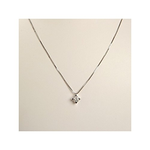 Recarlo - Collana Girocollo Punto Luce Oro Bianco 18 kt carati con Diamante