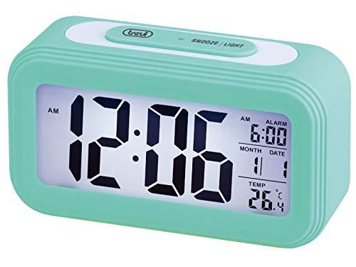 Trevi Reloj con TERMÓMETRO Digital con Alarma SLD 3068 S, Color, Azul Turquesa, Unica