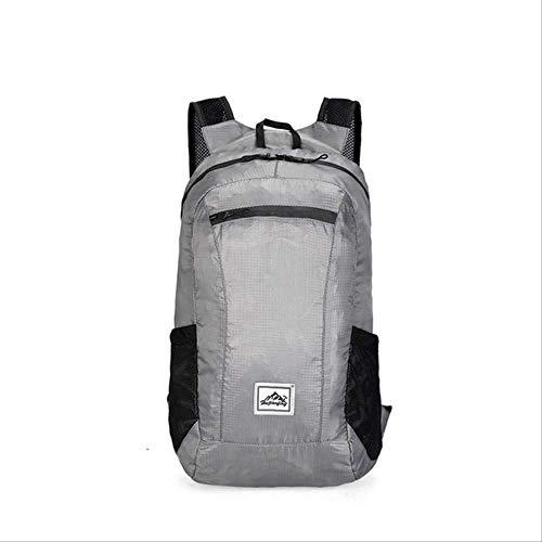 Generic Brands Sac à dos léger et pliable pour voyageurs, campeurs, cyclistes, sac à dos étanche 20 L Couleur grise.