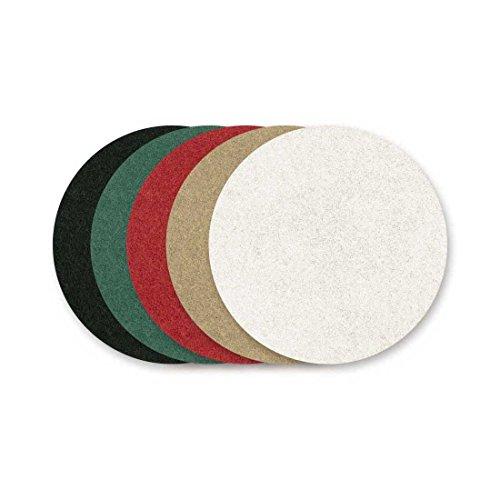 RETOL Normalpads, 330 mm, weiß, f. Einscheibenmaschinen, Polyester (10 Stk.)