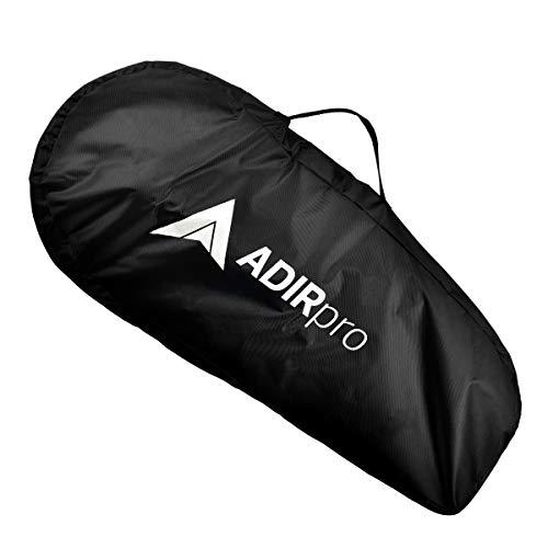 AdirPro Digital Distance Measuring Wheel - Large Digital LCD Display - 12 Commercial Grade Feet-Inch - Free Carrying Bag